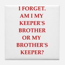 brother;s jeeper Tile Coaster