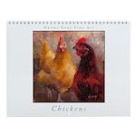 Chicken Painting Wall Calendar