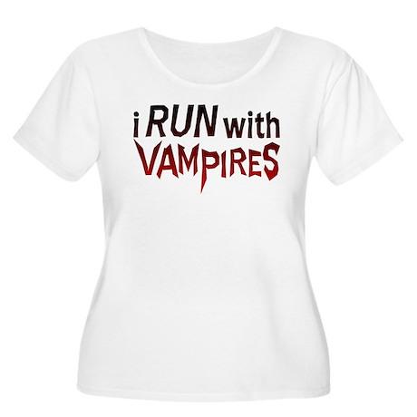 I Run With Vampires Women's Plus Size Scoop Neck T