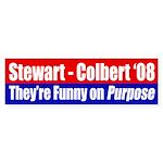 Stewart-Colbert 2008 bumper sticker