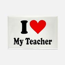 I heart my teacher Rectangle Magnet