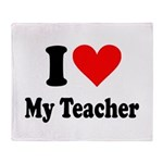 I heart my teacher Throw Blanket