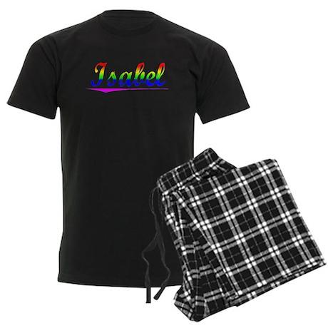 Isabel, Rainbow, Men's Dark Pajamas