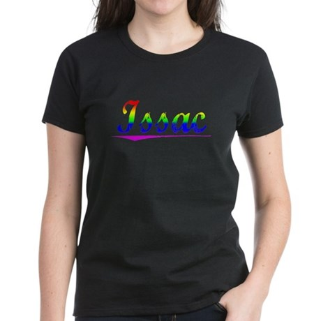 Issac, Rainbow, Women's Dark T-Shirt