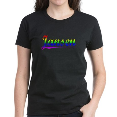 Jansen, Rainbow, Women's Dark T-Shirt