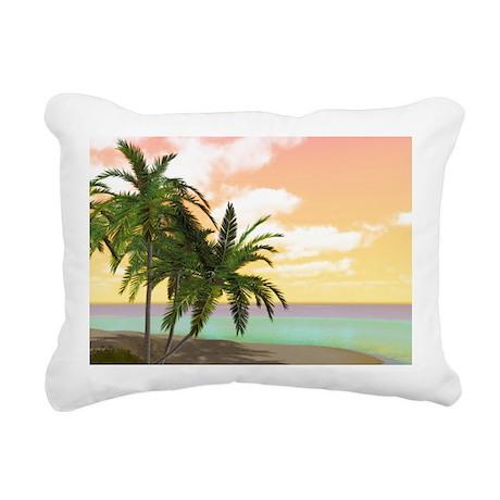 Dreamy Desert Island Rectangular Canvas Pillow