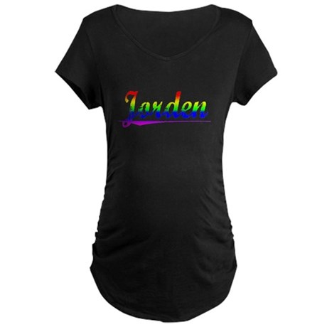 Jorden, Rainbow, Maternity Dark T-Shirt
