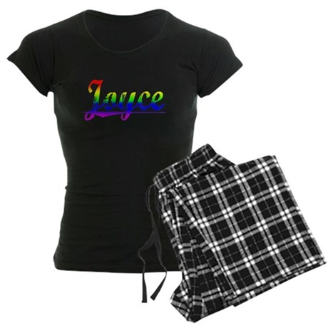 Joyce, Rainbow, Women's Dark Pajamas