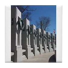World War II Memorial Tile Coaster