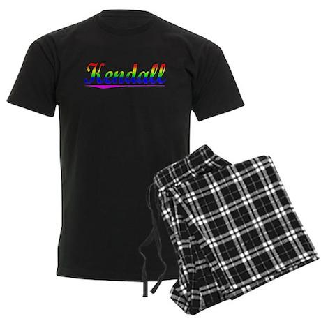 Kendall, Rainbow, Men's Dark Pajamas