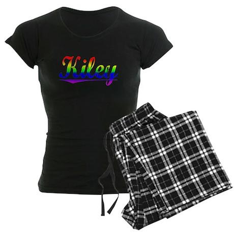 Kiley, Rainbow, Women's Dark Pajamas
