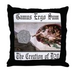 The Creation of D20 Throw Pillow