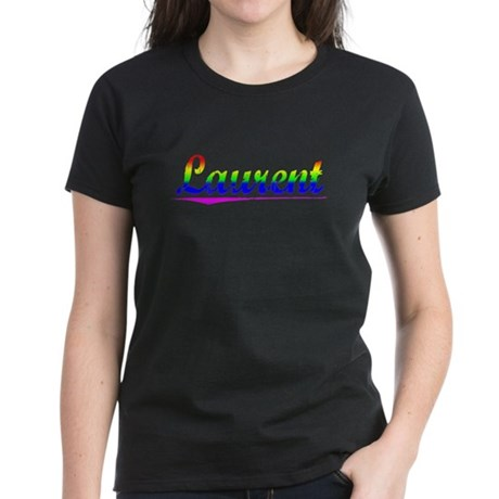 Laurent, Rainbow, Women's Dark T-Shirt