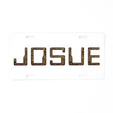 Josue Circuit Aluminum License Plate