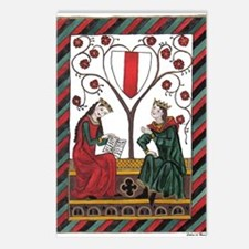 Manesse Codex Tafel 103 Postcards (Package of 8)