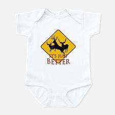 Better buck caution Infant Bodysuit