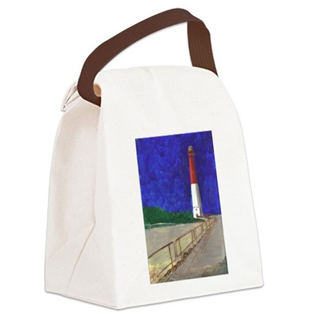 Old Barney Lighthouse Canvas Lunch Bag