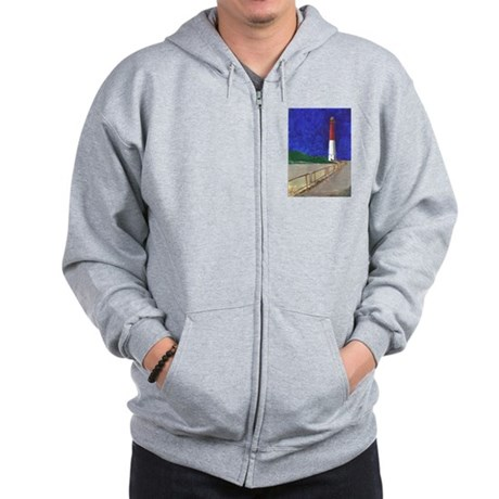 Old Barney Lighthouse Zip Hoodie