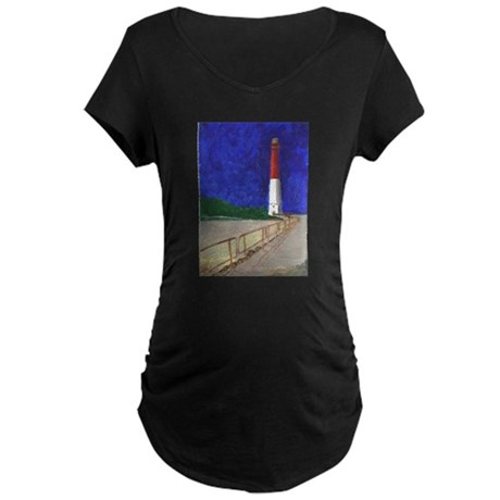 Old Barney Lighthouse Maternity Dark T-Shirt
