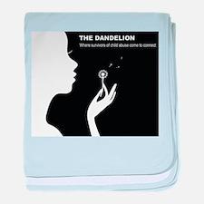 Original Dandelion Logo with Title baby blanket