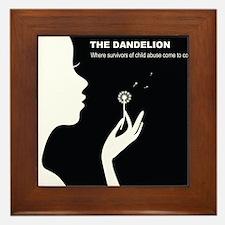 Original Dandelion Logo with Title Framed Tile