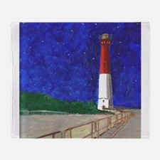 Old Barney Lighthouse Throw Blanket
