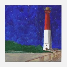 Old Barney Lighthouse Tile Coaster