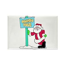 North Pole Santa Rectangle Magnet