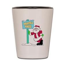 North Pole Santa Shot Glass