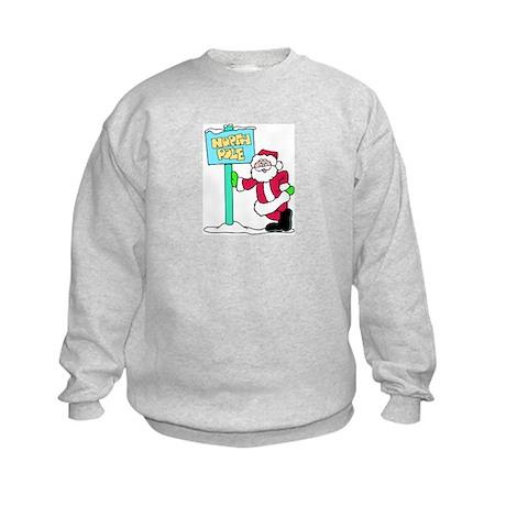 North Pole Santa Kids Sweatshirt