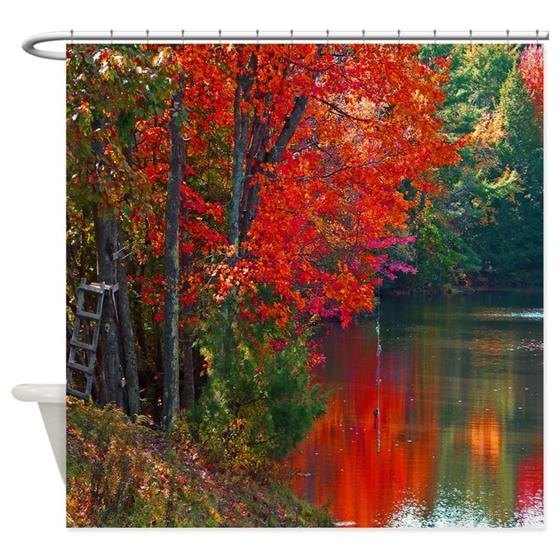 Rope Swings Fall View Shower Curtain By Crazysunphotography