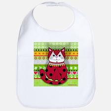 Ladybug Cat Bib