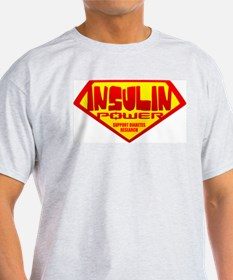 Insulin Power Ash Grey T-Shirt