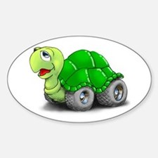 Speedy The Turtle Oval Stickers