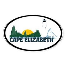 Cape Elizabeth ME - Beach Design. Decal