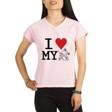 I Love My Goalie (hockey) Performance Dry T-Shirt
