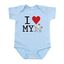 I Love My Goalie (hockey) Infant Bodysuit