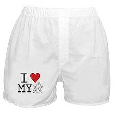 I Love My Goalie (hockey) Boxer Shorts