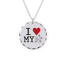I Love My Goalie (hockey) Necklace