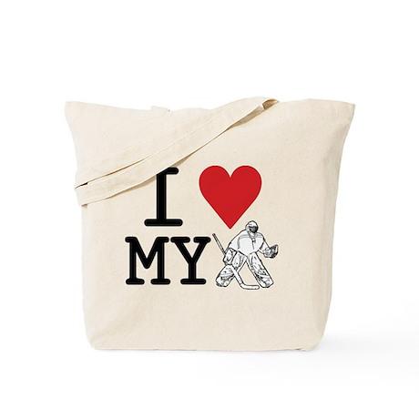 I Love My Goalie (hockey) Tote Bag
