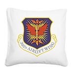 USAF 302 AW logo Square Canvas Pillow