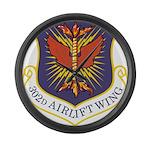 USAF 302 AW logo Large Wall Clock