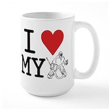 I Love My Goalie (hockey) Mug