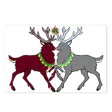 Mistletoe Reindeer Postcards (Package of 8)