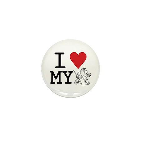 I Love My Goalie (hockey) Mini Button (100 pack)