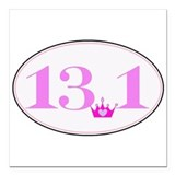 13.1 pink Square Car Magnets