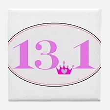 13.1 princess run Tile Coaster
