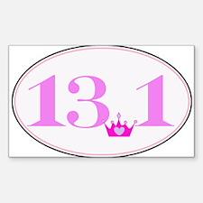 13.1 princess run Sticker (Rectangle)