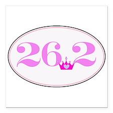 """26.2 princess marathon logo Square Car Magnet 3"""" x"""