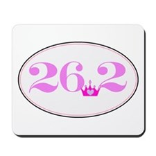 26.2 princess marathon logo Mousepad